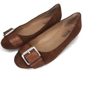 Michael Korea Brown Suede Leather Flats